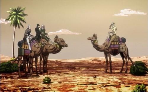 ジョジョ アニメ 第三部 第18話 ラクダに乗れた一行