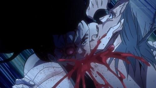 ジョジョ アニメ 第三部 第21話 ポルナレフに噛み付くシェリー