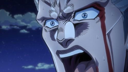 ジョジョ アニメ 第三部 第22話 ポルナレフ 驚愕