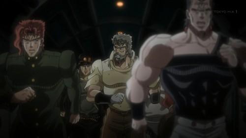 ジョジョ アニメ 第三部 第23話 逃げる一行