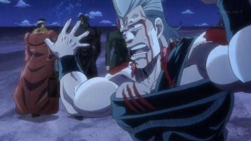 ジョジョ アニメ 第三部 第22話 豪快にスルーされるポルナレフ