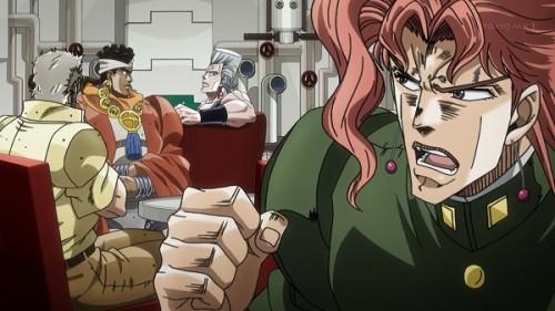 ジョジョ アニメ 第三部 第23話 ポルナレフに怒る花京院