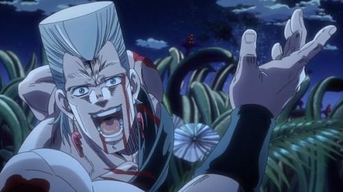ジョジョ アニメ 第三部 第22話 みんなに報告するポルナレフ