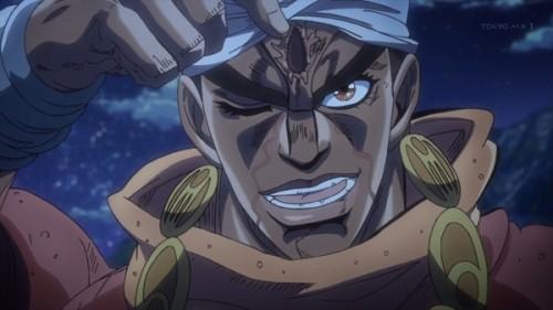 ジョジョ アニメ 第三部 第22話 傷跡を見せるアヴドゥル