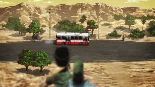 ジョジョ アニメ 第三部 第26話 ボスを見送るオインゴとボインゴ兄弟