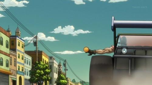 ジョジョ アニメ 第三部 第27話 オレンジ爆弾を捨てるオインゴ