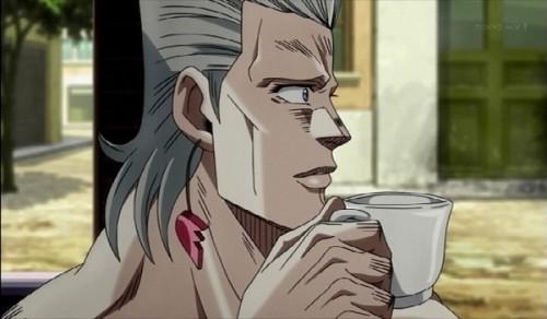 ジョジョ アニメ 第三部 第27話 紅茶を飲むポルナレフ