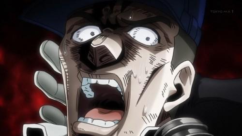 ジョジョ アニメ 第三部 第25話 恐怖に引きつる男