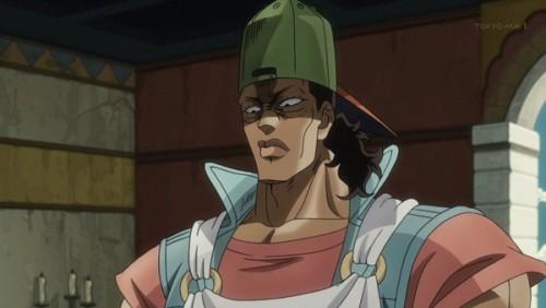 ジョジョ アニメ 第三部 第27話 ウェイターになりすますオインゴ