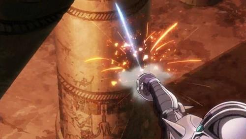 ジョジョ アニメ 第三部 第28話 剣針を飛ばすチャリオッツ
