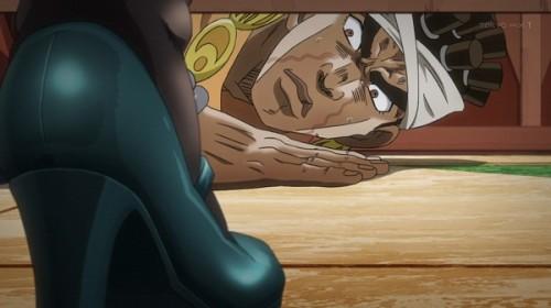 ジョジョ アニメ 第三部 第30話 トイレをのぞくアヴドゥル