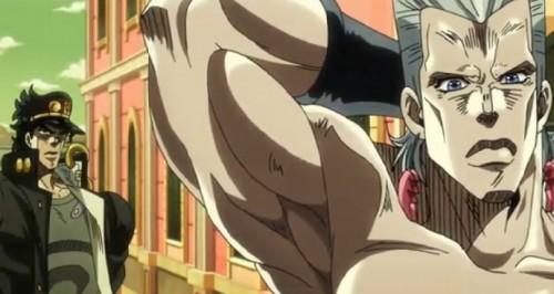 ジョジョ アニメ 第三部 第32話 イギーに悪態をつくポルナレフ