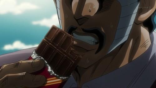 ジョジョ アニメ 第三部 第34話 チョコを食べるダービー