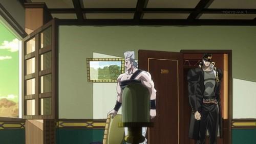 ジョジョ アニメ 第三部 第32話 部屋へ入る二人