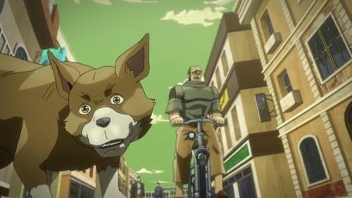 ジョジョ アニメ 第三部 第32話 自転車&犬