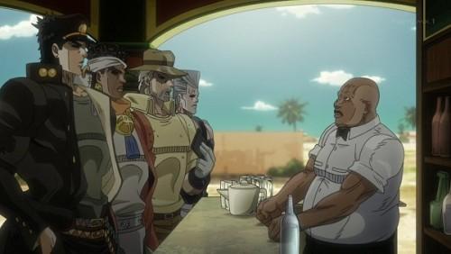 ジョジョ アニメ 第三部 第34話 カフェで尋ねる一行