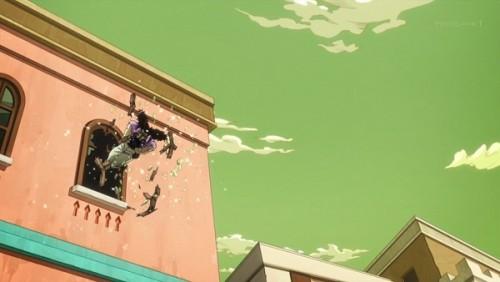 ジョジョ アニメ 第三部 第33話 窓から逃げるアレッシー