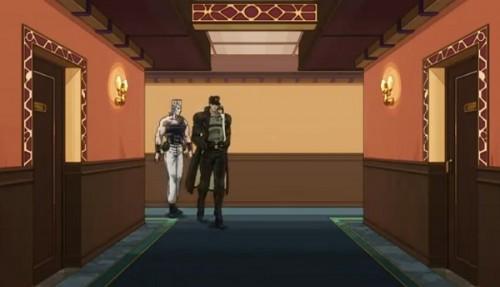 ジョジョ アニメ 第三部 第32話 ホテルへ来た承太郎とポルナレフ