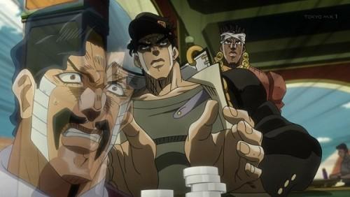 ジョジョ アニメ 第三部 第35話 「アヴドゥルの魂を全部賭ける」