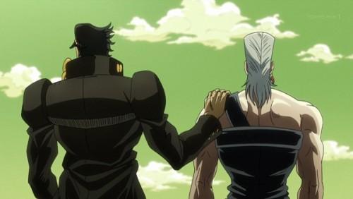 ジョジョ アニメ 第三部 第33話 ポルナレフの肩をそっと叩く承太郎