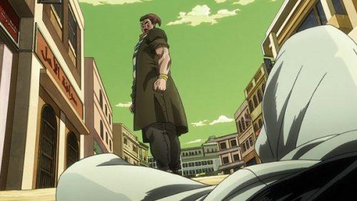 ジョジョ アニメ 第三部 第32話 見下ろされるポルナレフ