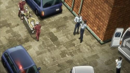 ジョジョ アニメ 第三部 第37話 タンカで運ばれるホル・ホース
