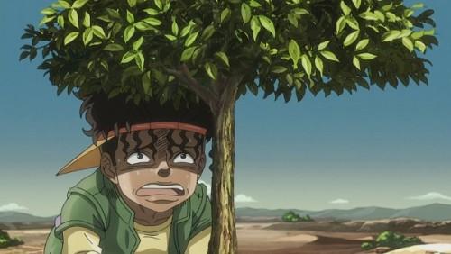 ジョジョ アニメ 第三部 第36話 木に隠れるボインゴ
