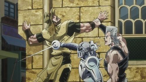 ジョジョ アニメ 第三部 第36話 ポルナレフに押さえ込まれるホル・ホース