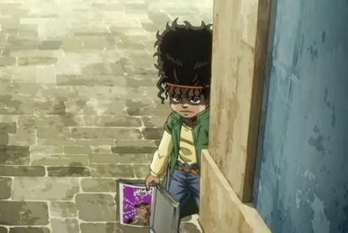 ジョジョ アニメ 第三部 第37話 搬送されるホルホースを見るボインゴ