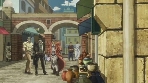 ジョジョ アニメ 第三部 第36話 ポルナレフに近づいてくる三人