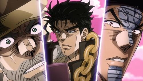 ジョジョ アニメ 第三部 第41話 投球予告する承太郎