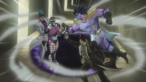 ジョジョ アニメ 第三部 第40話 穴に引き込むテレンス