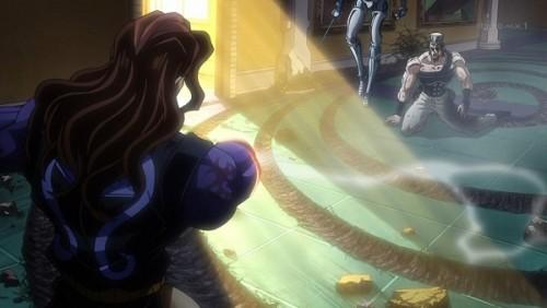 ジョジョ アニメ 第三部 第44話 太陽光に驚くヴァニラ・アイス
