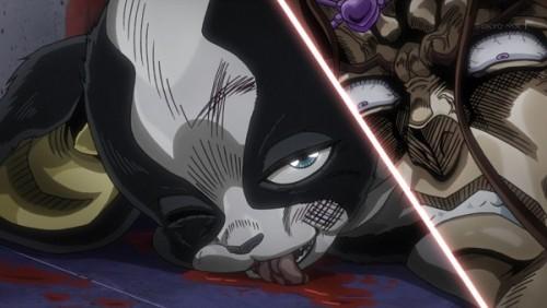 ジョジョ アニメ 第三部 第43話 ヴァニラ・アイスに笑みを見せるイギー