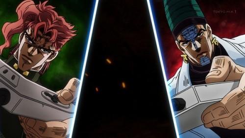 ジョジョ アニメ 第三部 第40話 闇のトンネルを抜ける二人