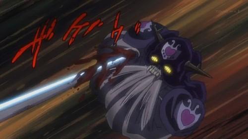 ジョジョ アニメ 第三部 第43話 チャリオッツの攻撃がヒット