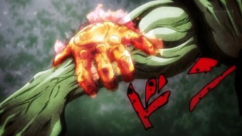 ジョジョ アニメ 第三部 第40話 承太郎に取り憑いたアトゥム神の手