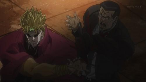 ジョジョ アニメ 第三部 第45話 腕をねじ曲げられるボディガード
