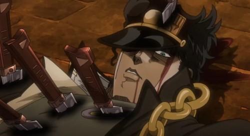 ジョジョ アニメ 第三部 第47話 様子を見ている承太郎