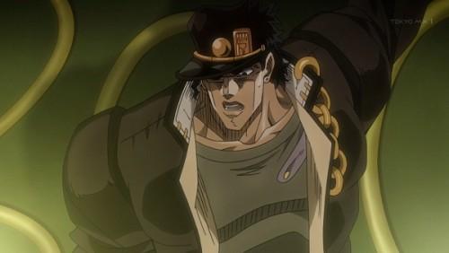 ジョジョ アニメ 第三部 第47話 「やれやれ パンチ一発程度の一瞬だけだ」