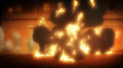 ジョジョ アニメ 第三部 第45話 車が炎上
