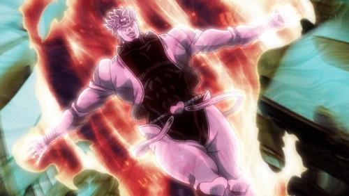 ジョジョ アニメ 第三部 第47話 「『世界(ザ・ワールド)』ッ!時よ止れ!」