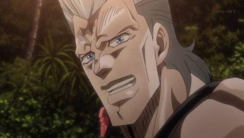 ジョジョ アニメ 第三部 第45話 嬉しそうなポルナレフ
