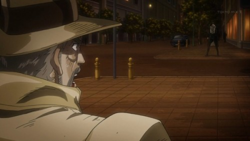 ジョジョ アニメ 第三部 第46話 スタンドチャート 承太郎とジョセフ