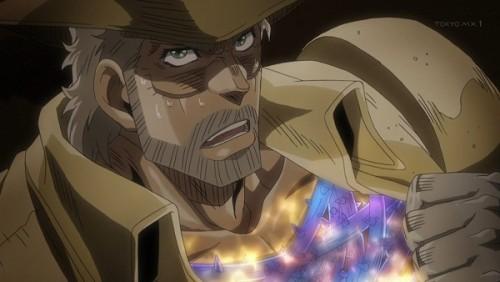 ジョジョ アニメ 第三部 第46話 波紋でガードするジョセフ