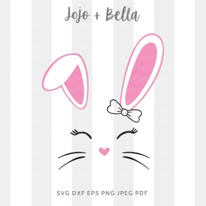 Girl bunny / boy bunny Svg - Easter cut file for cricut and silhouette