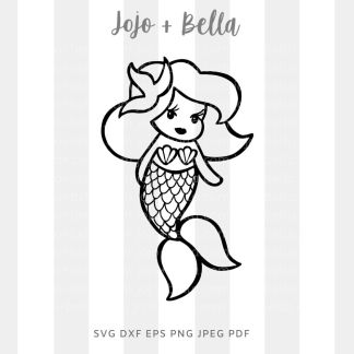 Baby mermaid Svg - A cute cut file for cricut and silhouette