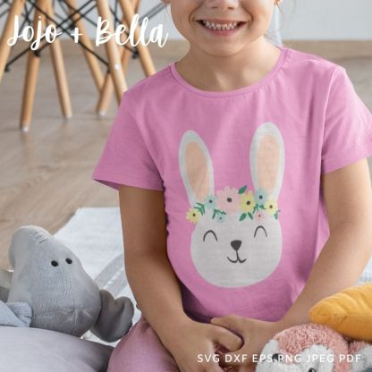 Flower rabbit Svg - Easter cut file for cricut and silhouette