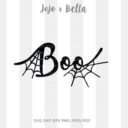 Boo Svg - halloween cut file for cricut and silhouette