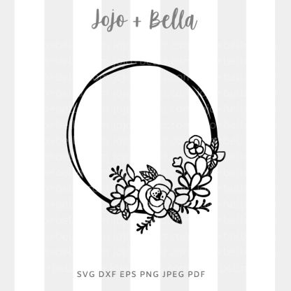 Love flower wreath Svg - flowers/wreaths cut file for cricut and silhouette